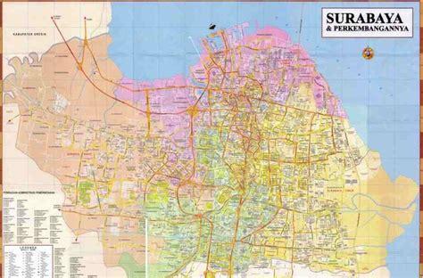 gambar peta kota surabaya gambar peta indonesia dunia tematik map obyek wisata