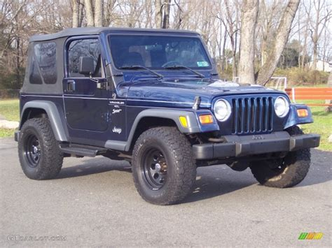 patriot jeep blue 2000 patriot blue pearl jeep wrangler sport 4x4 57001332