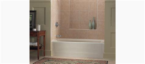 mendota 60 quot x 32 quot alcove bath with left drain k 505
