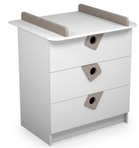 Commode A Langer Taupe by Commode 224 Langer 3 Tiroirs Blanc Et Taupe Anniversaire