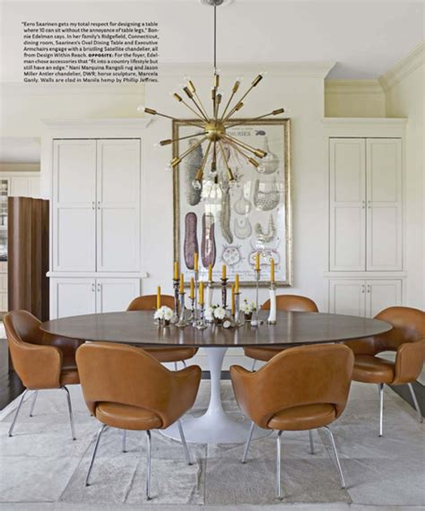 house beautiful dining rooms la dolce vita design the influence the sputnik chandelier