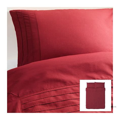 ikea red and white bedding ikea alvine stra pleated duvet cover and pillowcases set str 197