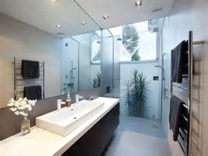 Modern Bathroom Windows Modern Bathroom Design With Floor To Ceiling Windows Using Frameless Glass Bathroom Photo 526369