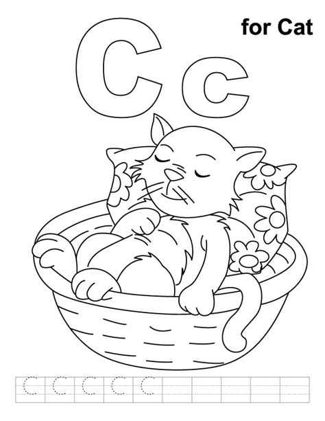 preschool coloring pages letter c free letter c printable coloring pages for preschool