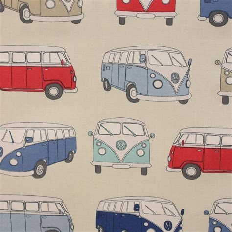 Vw Upholstery Fabric by Fryetts Vw Cervan Blue Curtain Fabric Closs Hamblin