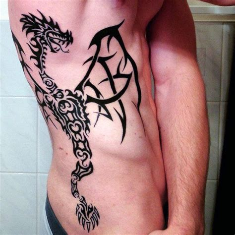 tribal rib cage tattoos tribal tattoos on side www pixshark images