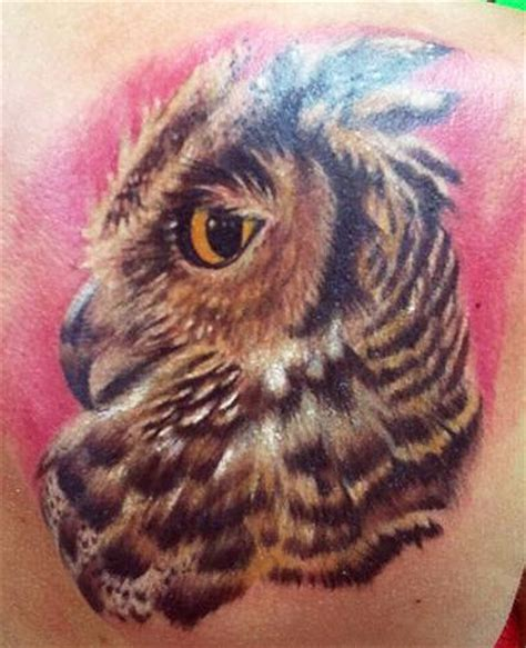 horned owl tattoo great horned owl by dave racci tattoonow