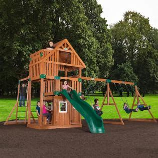 sears swing sets for kids backyard discovery wanderer cedar swingset with fort and
