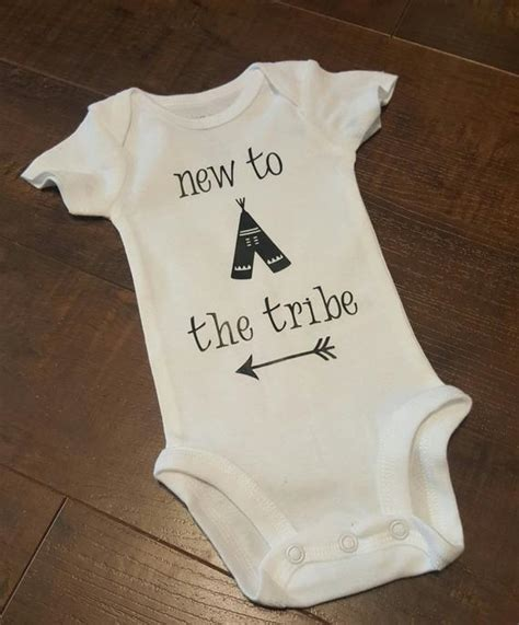 New To The Tribe new to the tribe baby newborn onesie coordinates with
