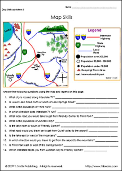 map activities for us geography classes free printable map skills worksheets humorholics