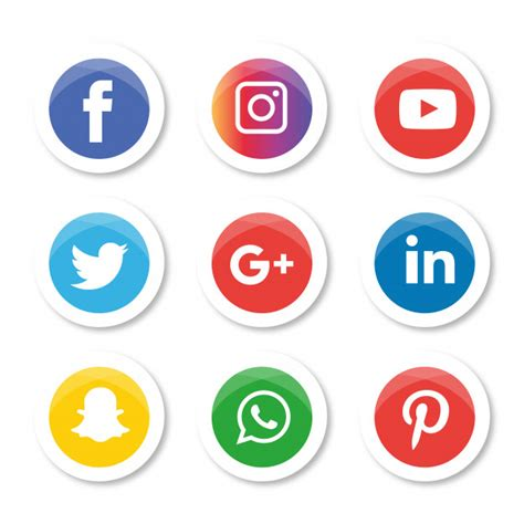 social media icons set logo illustrator facebook