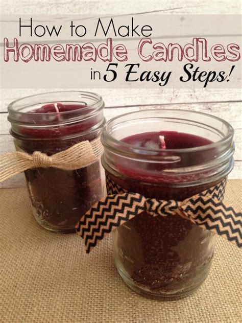 Easy diy candle crafts christmas gifts and decorations