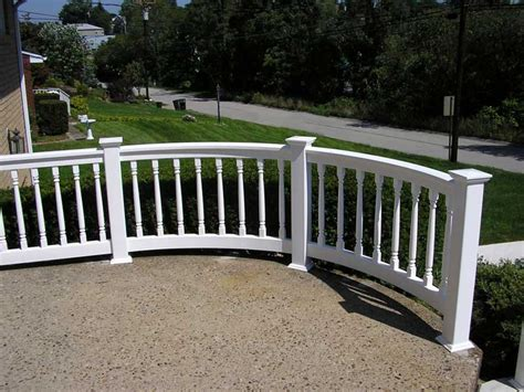 curved railing bella railings