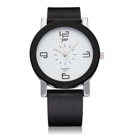 Mens Fashion Quartz Watches White buy fashion jw black white leather quartz wrist