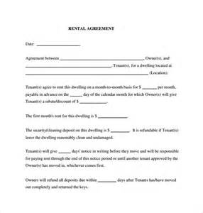 sample generic rental agreement 6 free documents in pdf
