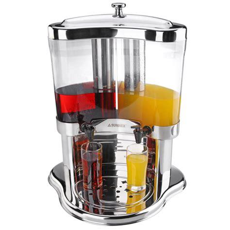 Juice Dispenser Sunnex sunnex half moon juice dispenser 352oz 10ltr