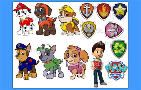paw patrol puppy names paw patrol characters individuals custom by fairymomsedibles birthday berlin