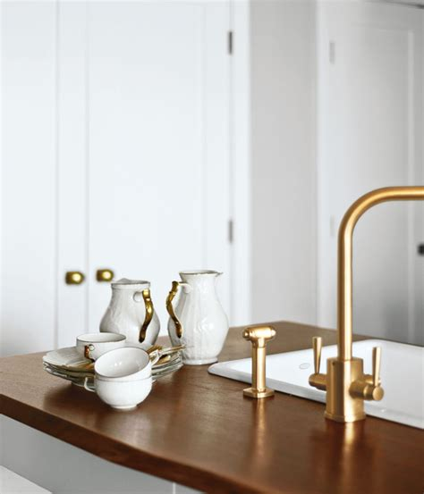 brass kitchen faucets brass hardware and fixtures are back