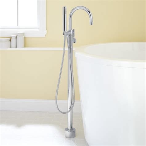 bathtub fixtures with handheld shower carissa freestanding tub faucet and hand shower bathroom