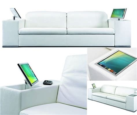 high tech couch sofas with inbuilt lcd for your smart home gadgets wiki