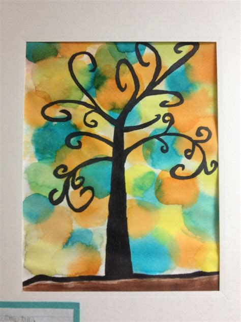 5th grade craft projects klimt watercolor tree 5th grade project and