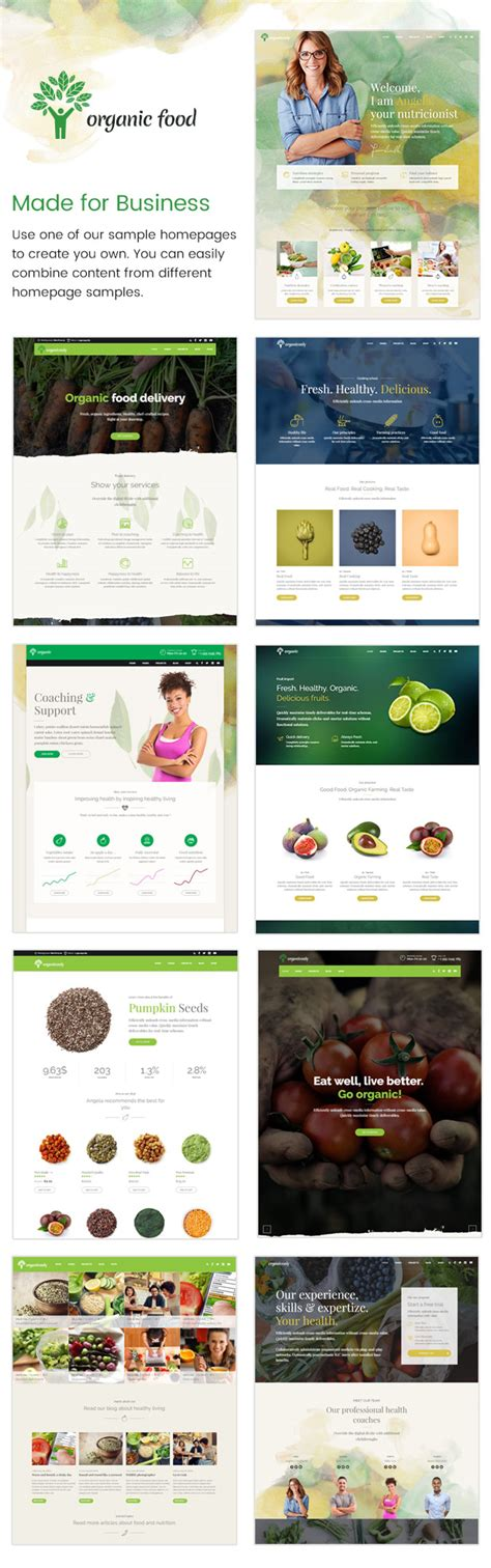 ephoto premium wordpress theme elegant themes organic food nutritionist food wordpress theme