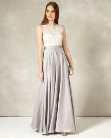 clarabella full length dress silver cream phase eight