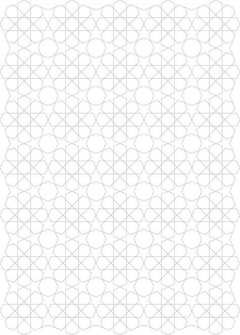 pattern islamic photoshop geometric design two variations on an islamic tiling pattern