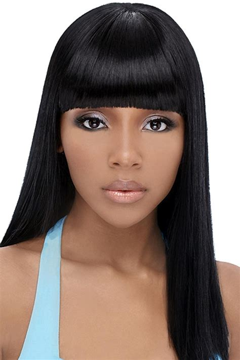 Long Weave Hairstyles With Bangs   HairStyles