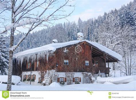 alpine house snowbound alpine house ii stock photo image 35443760