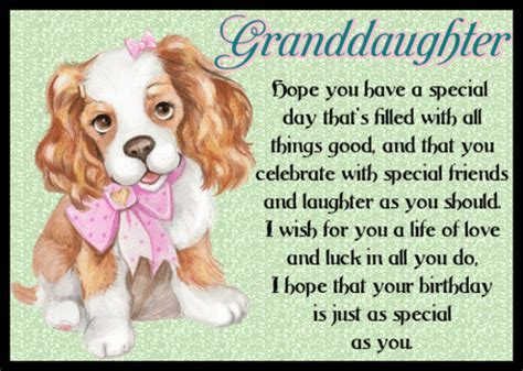 Granddaughter Birthday Wishes. Free Extended Family eCards