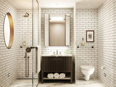 subway tile bathroom traditional with bathroom tile arts sullivan hotel contemporary white bathroom subway tile