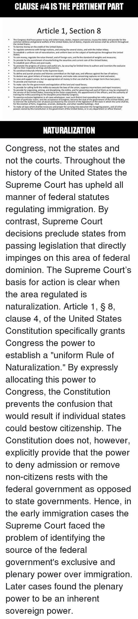 article one section eight article 1 section 8 united states constitution