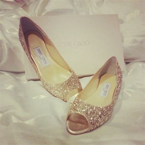 gold peep toe flat shoes gold glitter jimmy choo peep toe flats wedding shoes