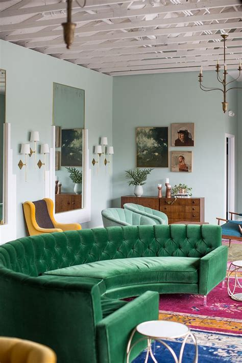 green sofa design ideas pictures  living room