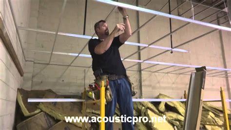 t bar ceiling installation drop ceiling grid n tile acoustical install