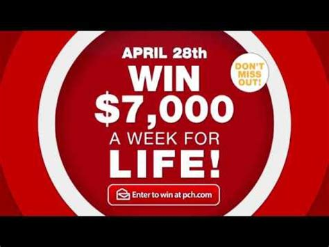 Pch 7000 A Week For Life 2017 - don t miss out on pch s 7 000 a week for life youtube