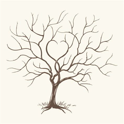 thumbprint tree template i need to pin this so i can paint it later for our wedding