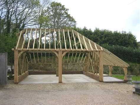 How To Build A Foundation For A Garage by Building An Oak Framed Garage Building Your Own Oak