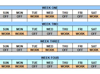 12 hour swing shift schedule 12 hour shift calendar pictures to pin on pinterest