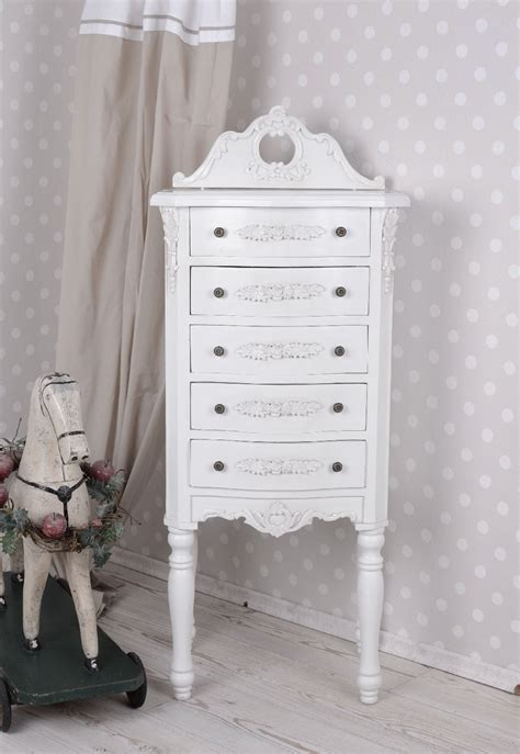 kommode tower vintage chest of drawers shabby chic tower kommode white
