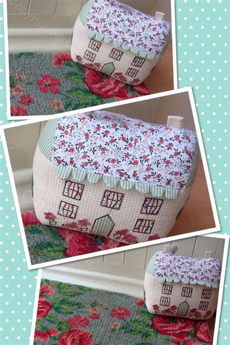 Patchwork Door Stop Pattern - cottage fabric doorstop 163 18 00 www chicyrachael