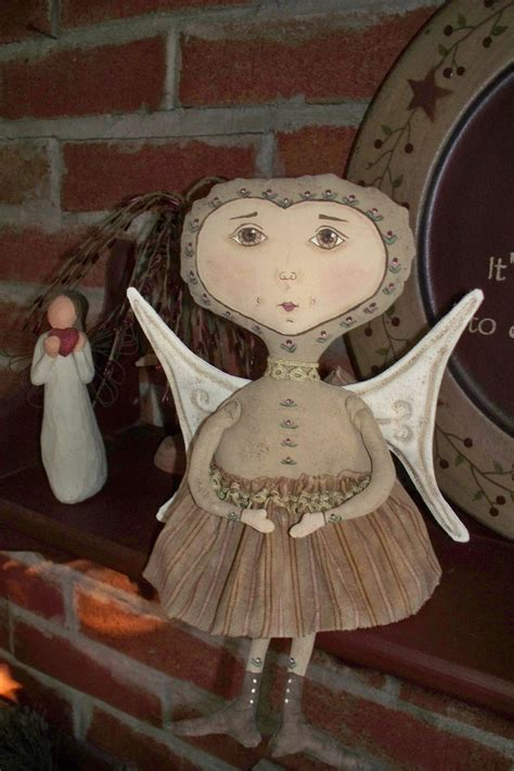 you doll design etsy pattern primitive folk art angel doll ivy rose by