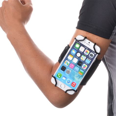 Sport Armband Smartphone 5 5 8 Inch Black tfy open sport armband wrist band holder key holder for 4 inch to 5 5 inch cell phone