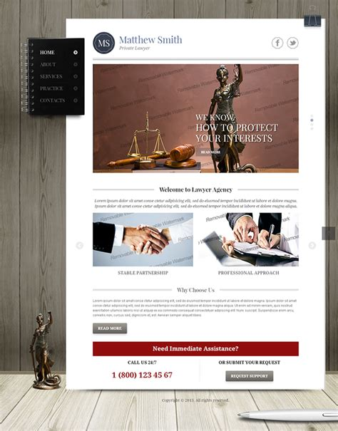 Matthew Smith Private Lawyer Bootstrap Html Template On Behance Lawyer Web Templates