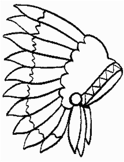 indian headdress coloring sheet printable indian coloring pages coloring home