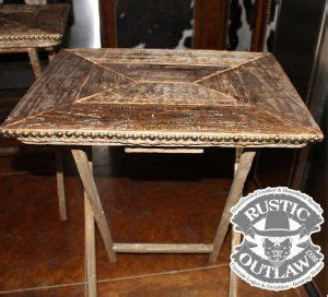 rustic tv tray tables rustic weathered wood tv tray tables set of 2 trim