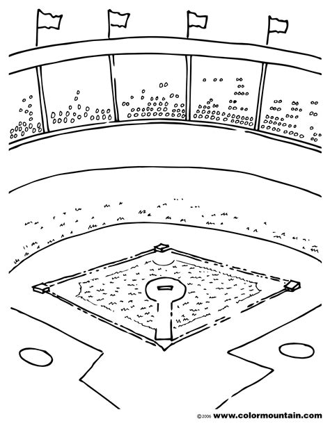 Baseball Field Coloring Pages Baseball Field Coloring Page