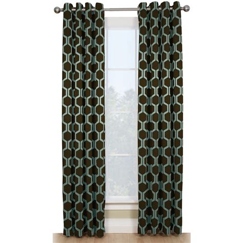 Thermal Window Curtains by Shop Style Selections Quinn 84 In Chocolate Blue Polyester