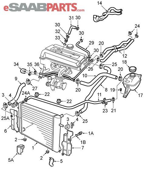saab 93 parts diagram saab 9 3 cooling parts diagram saab auto parts catalog